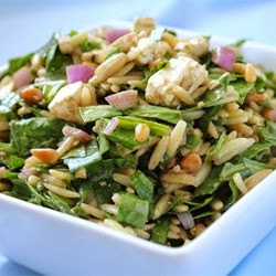 Cheese – Spinach And Orzo Salad